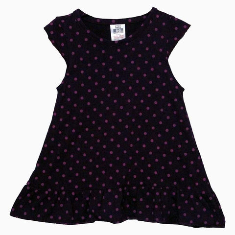 Zara baby polka print Purple girls dress