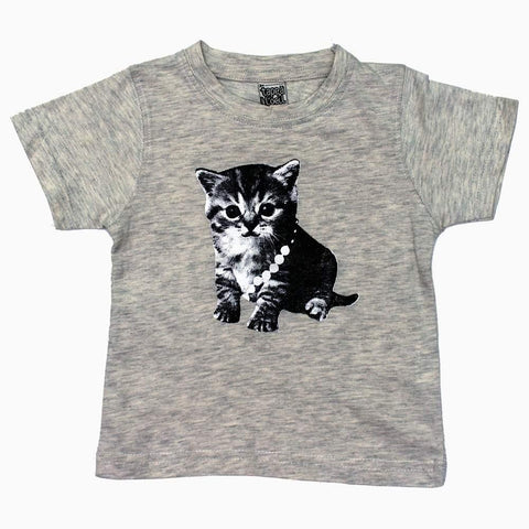 Cute Cat Graphic Printed Heather Grey Unisex Tshirt