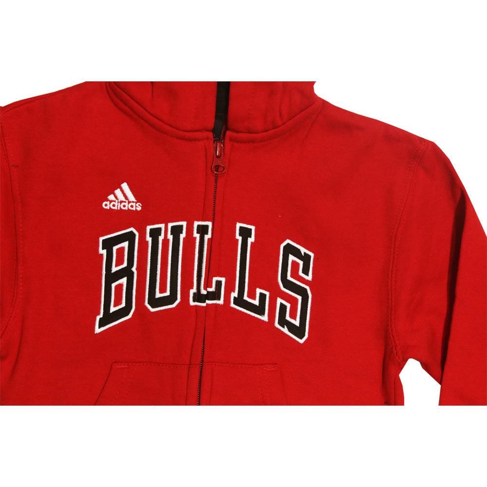ADIDAS Bulls Adidas Embroidery Red Boys Cotton Hoodies