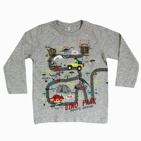 Dino park boys heather grey Shirt