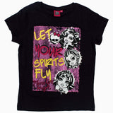 MONSTER HIGH Let Spirits Fly Black Girls Tshirt