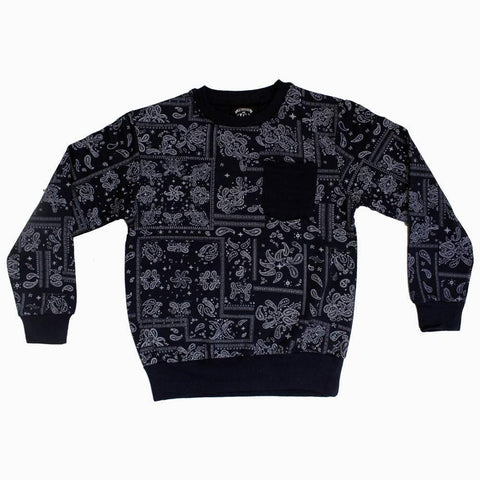 Navy Blue All over printed unisex sweat shirt