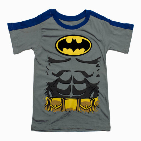BATMAN Chest Print Boys Grey Tshirt