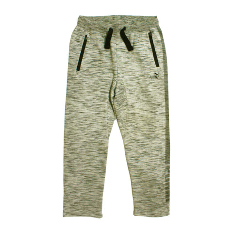 PUMA Grey and Black Side Printed Heavy Cotton Jersey Trouser