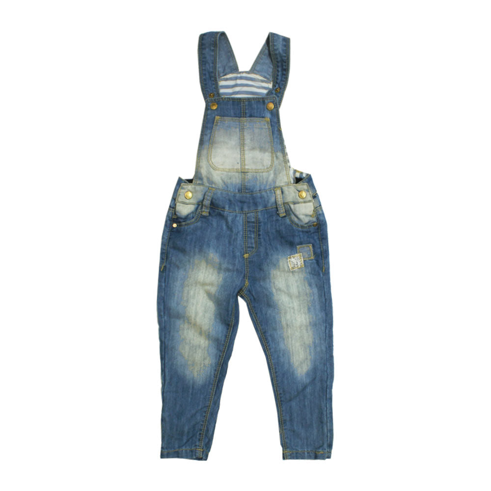 16e808960 ZY Baby front Patch Denim Full Dungaree – Globalstock