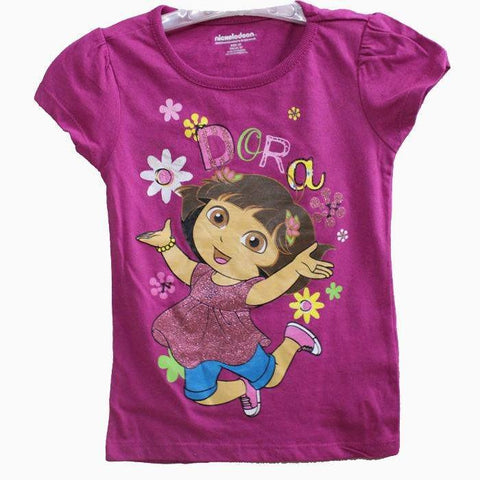 Dora Purple Flower Print T-shirt