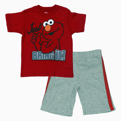 Elmo Red and Grey 2 Piece Set