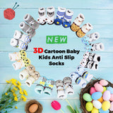 White Star Embroidery Unisex Cotton Baby 3D Socks