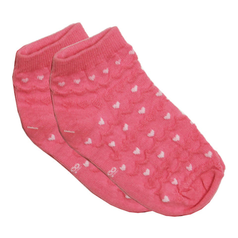 Fashion Knitted Hearts Pink Cotton Socks