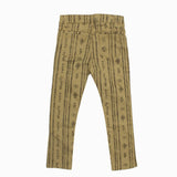 Berksha All Over Traditional Print Girls Brown Twill Cotton Pant