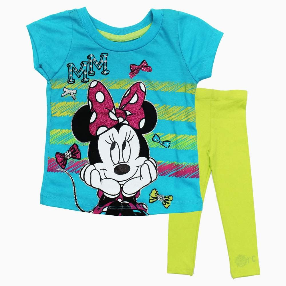 Minnie Mouse MM Glitter Print 2 piece Set