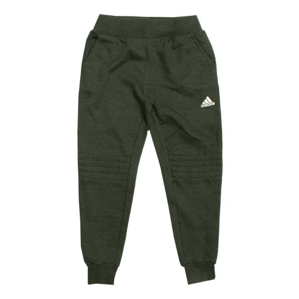 ADIDAS Knee Stitched Dark Grey Fleece Trouser