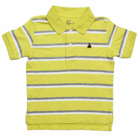 BABY GAP( Cut Label ) Yarn Dyed Yellow Polo