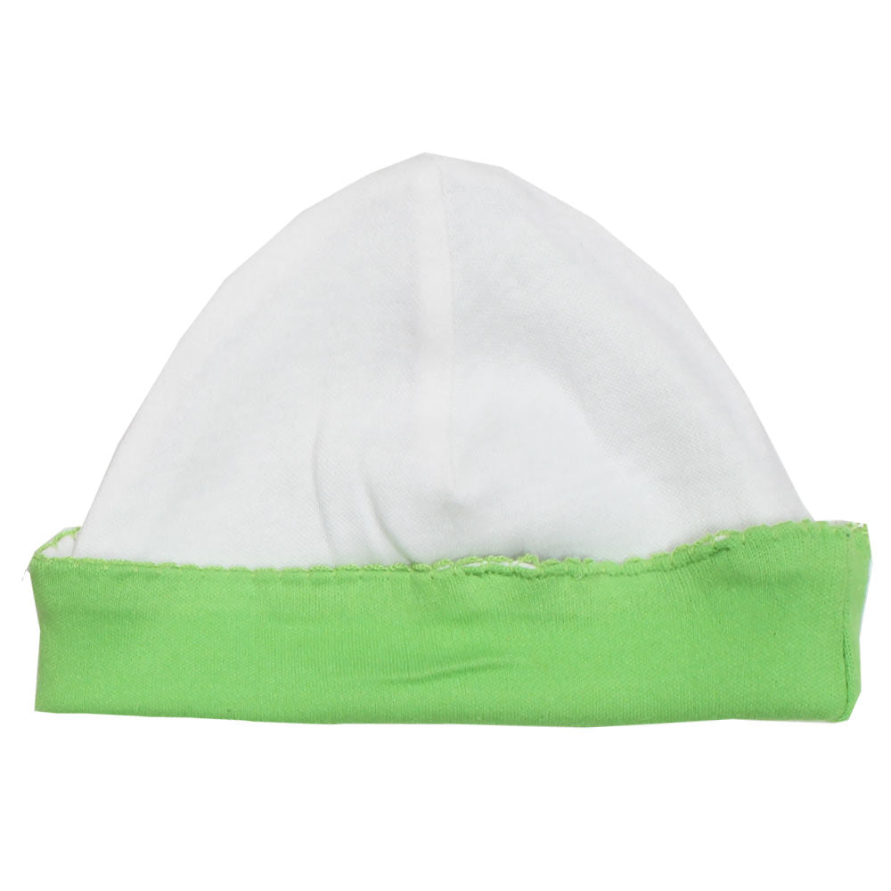 BABY Bottom Lace Green And White Cap