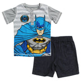 BATMAN 2 Piece Henley Tshirt and Denim Short Set