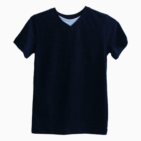 Boys Navy Blue V neck tshirt