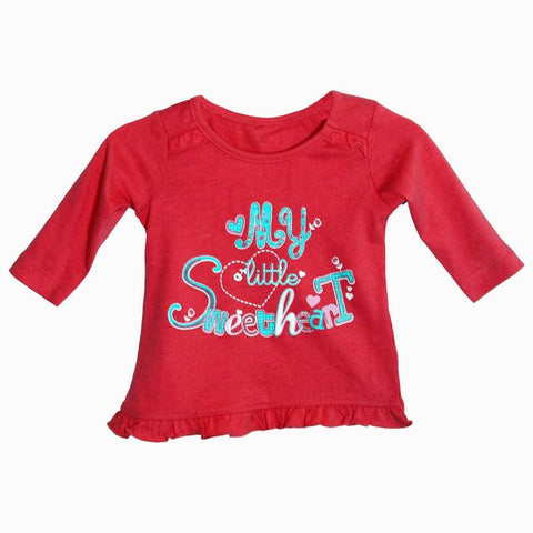My little sweetheart girls frill Fancy Tshirt
