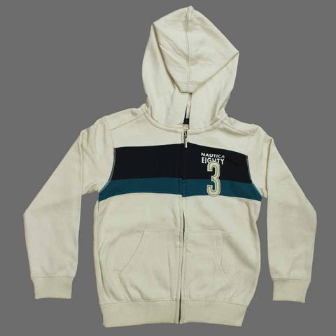 NAUTICA Eighty Three Cream Colour Fleece Hoodie