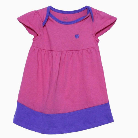 URB Premium Cotton girls pink frock