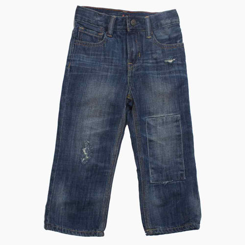 BABY GAP Front Patch Boys Winter Denim Jeans
