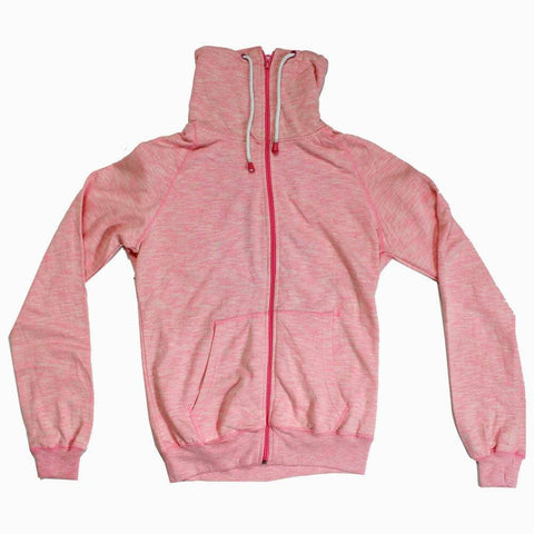 Pink girls Zipper Highneck