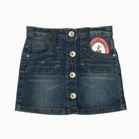MotherCare Girls Denim Blue Front Butons Skirt