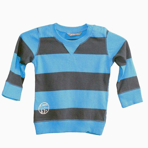 kids by lindex gray & blue full sleeve boys t-shirt