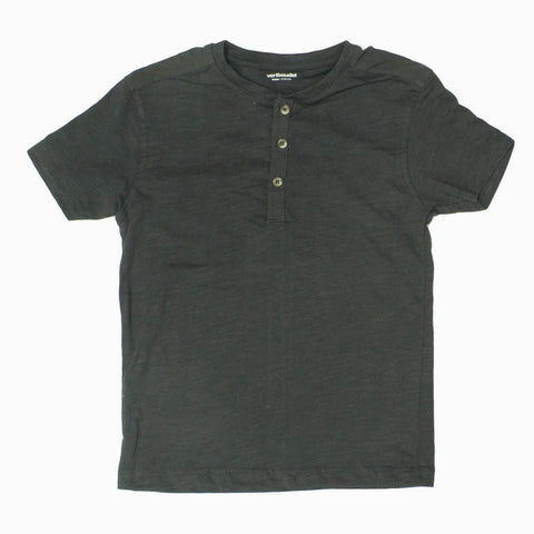 Verbaudet Grey Boys Premium Cotton Henley tshirt