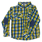 OSHKOSH Yellow and Blue Checks Premium Cotton Casual Shirt
