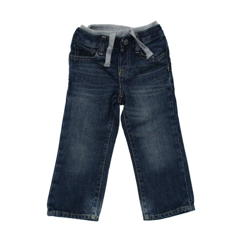 Baby GAP Inner Ribbed Waist band Blue Boys Sand Washed Jeans