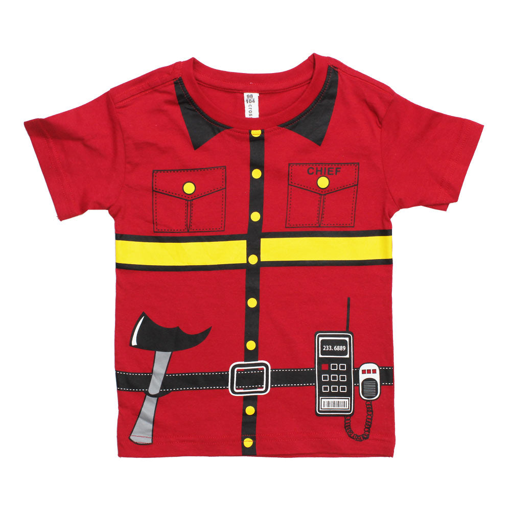 FIRE Chief Red Premium Cotton Boys Tshirt