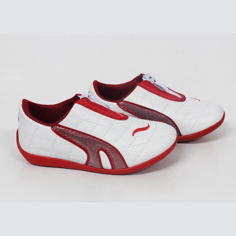 SUNSANG Boys Front Zipped Red Fashion Shoes