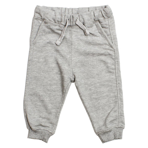 LEFTIES Fake Pocket Grey Cotton Terry Trouser