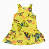 HnM Yellow Girls All over Butterfly Dress