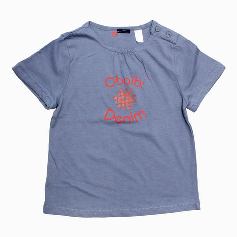 Obaibi (Cut Label) Girls Light Purple Shoulder Buttons Premium Tshirt