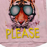 Photos Please Graphic Tiger baby Pink Girls Tshirt