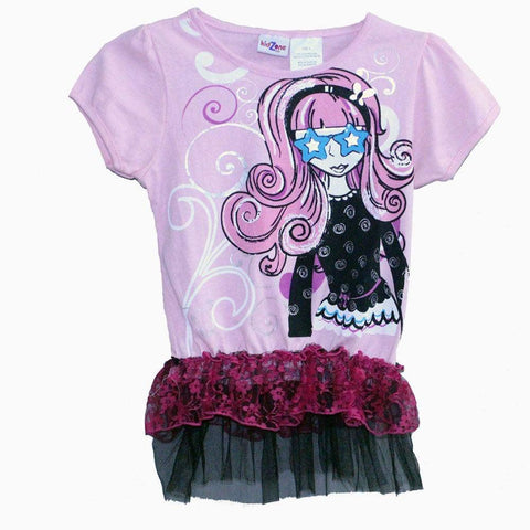 kids zone girls half sleeve dress