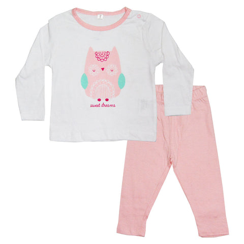 Sweet Dreams Baby Pink 2 Piece Cotton Night Suit Set