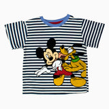 Mickey and Pluto Boys navy and White Stripes 2 Piece Set