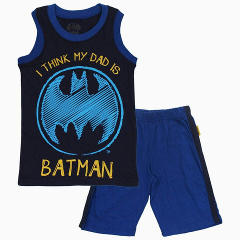 My dad is BATMAN navy Boys 2 piece Set