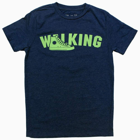 Walking Boys Navy Blue Tshirt