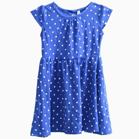 H&M Blue polka dot dress