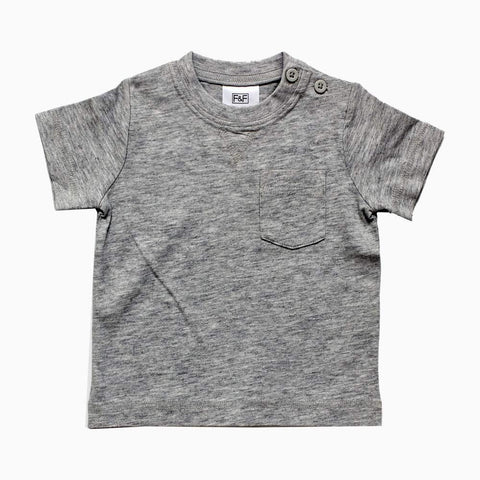FnF Front Pocket Heather Grey Boys Tshirt