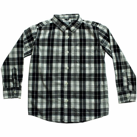 Old Navy(CUT LABEL) Black and Off white Big Checks Boys Shirt