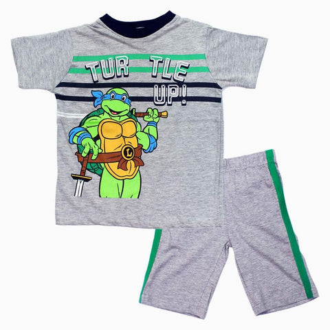Turtle UP Heather Grey Boys 2 Piece Set