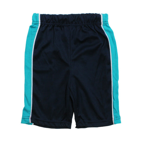 HIGHLAND Boys Blue and Navy Basketball Polyester Sports Shorts