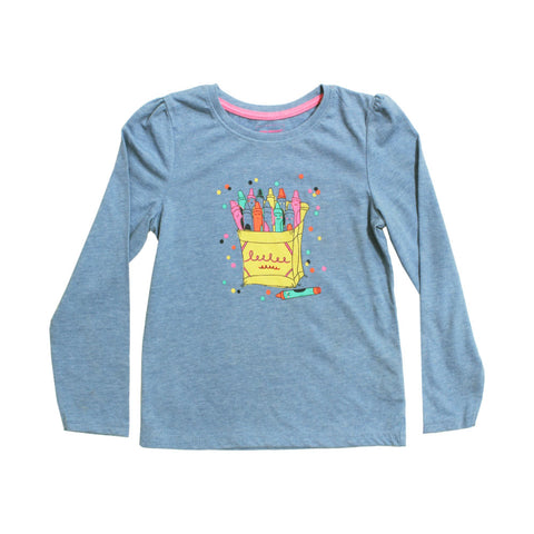 YOUNG Dimension Color Box Blue Premium Cotton Tshirt