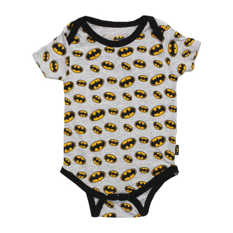 BATMAN All Over Logo Printed Summer Poly Cotton Romper