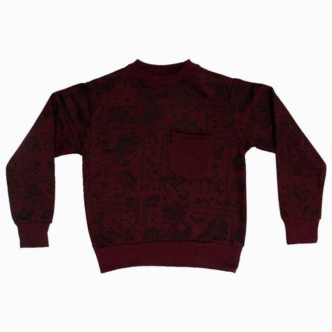 Maroon All over printed unisex sweat shirt