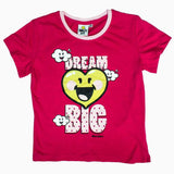 Dream Big Girls Hot Pink Tshirt